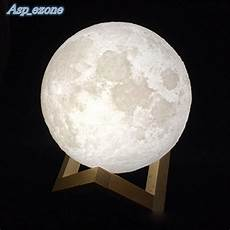 The Luna Light 3d Printing Luna Night Light Led Moon Lamp Touch Control