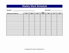 Printable Work Schedules Pictures Of Sample Work Schedules Scope Of Work Template