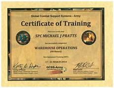 Army Certificates Of Training Gcss Army Certification