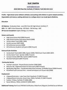 High School On Resume Leadership Scholarship Resume Examples Student Template