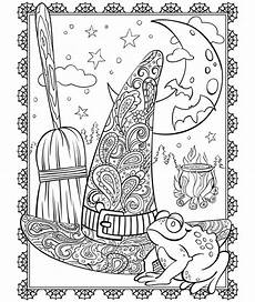 halloween mandala coloring pages witch s hat coloring page crayola com