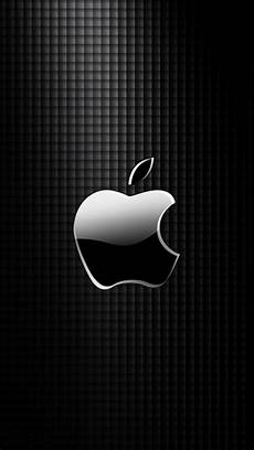 Apple Logo Hd Wallpaper For Iphone by Sleek Apple Logo With Black Grid Background Wallpaper