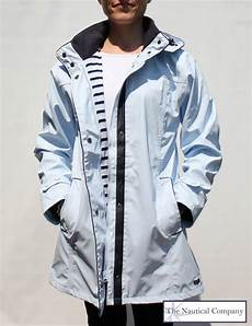 Light Raincoat Women S Lined Raincoat With Hood Light Blue Stylish