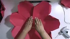 Paper Flower Petal Templates Diy Large Paper Flower 7 Petal Paper Flower Cbm