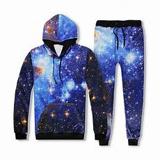 clothes space brand clothing hip hop casual fashion 3d print tracksuit
