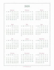 at a glance calendar 2020 free year at a glance calendar printables 2019 and 2020