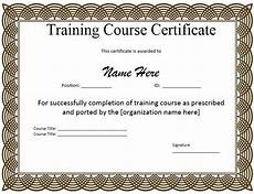 Certificate Of Training Template Free 10 Training Certificate Templates Word Excel Amp Pdf
