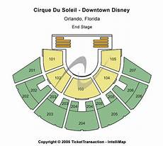 Cirque Orlando Seating Chart Cirque Du Soleil Downtown Disney Tickets In Orlando