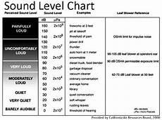 Sound Level Chart Santa Ose Leaf Blower Facts