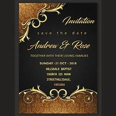 Invitation Free Download Wedding Invitation Card Design Template Template For Free