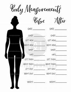 Free Printable Body Measurement Chart 2 Body Measurement Tracker Printables Bullet Journal Body