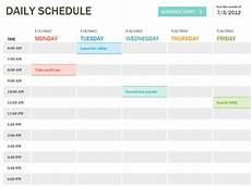Daily Schedule Excel Template Daily Schedule Template Excel Task List Templates