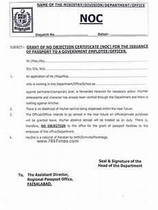 Noc No Objection Certificate Grant Of No Objection Certificate Noc For The Issuance Of