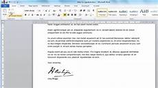 Insert Signature In Word How To Create Digital Signature In Word Youtube