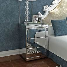 panana mirrored bedside cabinet bedside table chest of 3