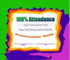 100 Attendance Certificate Template Free 23 Sample Attendance Certificate Templates In Ai