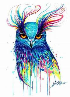 Colorful Owl Art B 250 Ho Colorido Owl Colorful With Images Art Prints