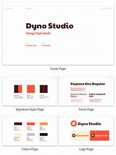 Style Guide Examples Red Design Style Guide Creative Presentation Template