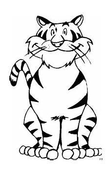 laechelnder tiger ausmalbild malvorlage tiere