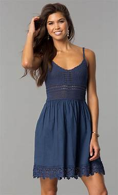 casual dress with crocheted bodice promgirl