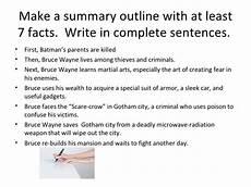 Summary Paragraphs Summary Paragraph