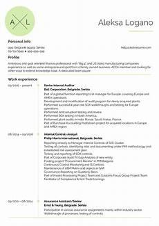 Internal Resume Template Senior Internal Auditor Cv Sample Kickresume