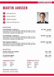 Cv Templates For Microsoft Word Cv Template Cape Town Cv Template Microsoft Word Resume