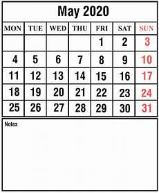 Word 2020 Calendar Download Free Printable May 2020 Calendar Pdf Excel