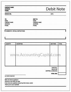 Debit Note Format Letter Difference Between Debit Note And Credit Note