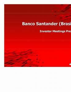 banco santander stock santander securities presentation