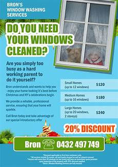 Cleaning Leaflet Template Window Cleaning Leaflet Flyer Design Contest Brief 328053