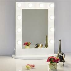 Hollywood Lighted Dressing Room Mirror Chende White Hollywood Tabletops Lighted Makeup Mirror
