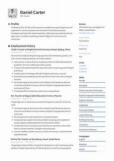 Resume Samples For Teacher 12 English Teacher Resume Samples Radaircars Com