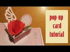 pop up card tutorial pop up card carnation card papercraft tutorial