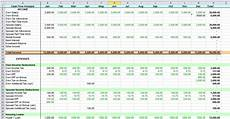 Cash Flow Templates Excel Sean Excel Blog Yearly Personal Cash Flow In Excel