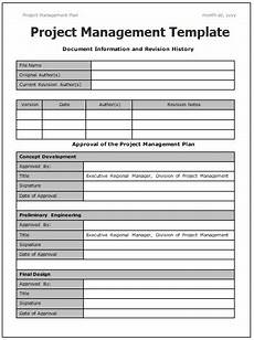 Free Project Management Template Project Management Templates 14 Free Printable Word