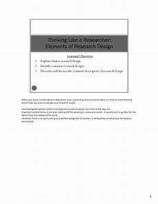 Basic Elements Of Research Design Mba724 S3 2 Elements Of Research Design V2