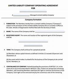 Example Llc Operating Agreement Free 11 Sample Operating Agreement Templates In Google