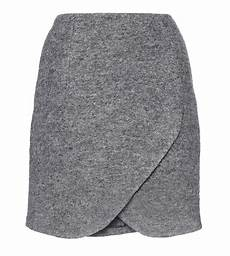 carven gray asymmetric wool wrap mini skirt my fashion wants