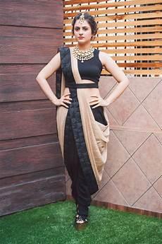 Dhoti Saree Design 42 Best Fusion Sarees Images On Pinterest Dhoti Saree