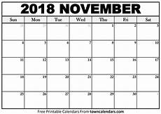 November Template Printable Towncalendars Com