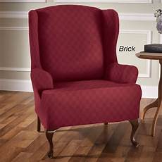 Sofa Seat Slipcover 3d Image by Newport Stretch Wing Chair Slipcovers