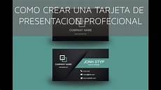 Plantillas Para Tarjetas De Presentacion Como Dise 241 Ar Una Tarjeta De Presentaci 243 N Profesional En