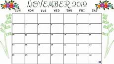 November Calendar Printable Printable November 2019 Calendar Worksheet Calendar Kart