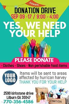 Donation Flyers Templates Free Copy Of Donations Postermywall