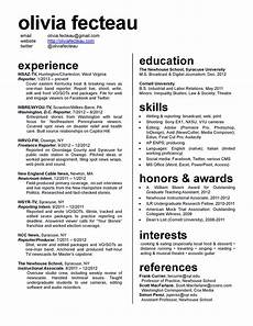 How To Make A One Page Resume R 233 Sum 233 Resume Layout Graphic Design Resume Resume Review