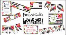 Printable Party Designs Flower Party Printables Free Printable Decorations