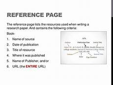 Reference Page For Essay Apa Format Style Power Point