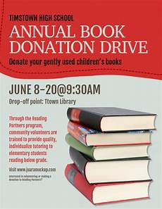 Book Flyers Examples Copy Of Book Donation Drive Flyer Postermywall