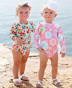 toddler sleeve swimsuit rufflebutts baby toddler upf 50 sun protection